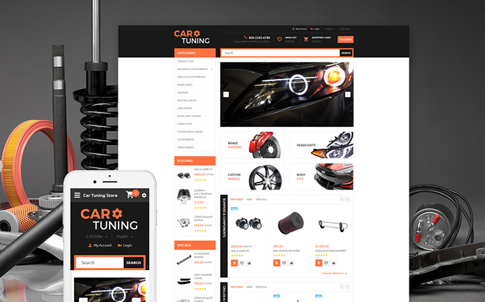Car Parts OpenCart Template