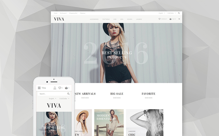 Clothing Store OpenCart Template