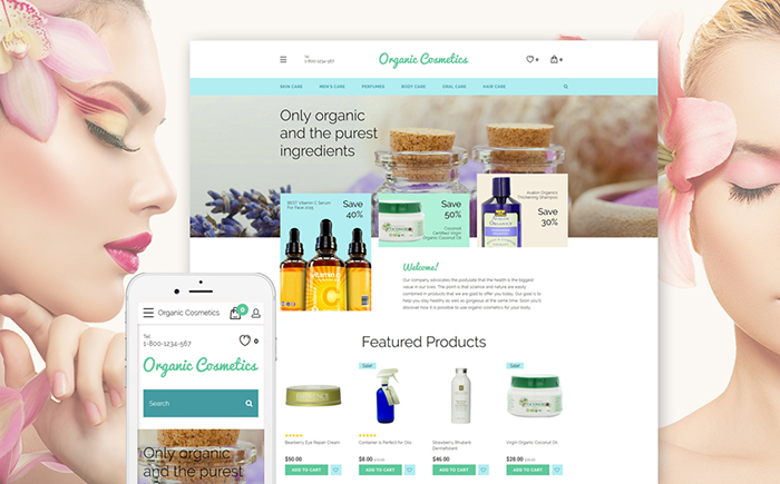 Beauty Products OpenCart Template