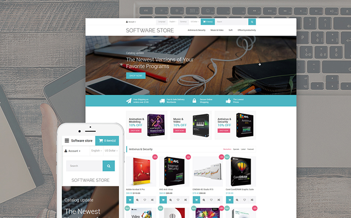 software store OpenCart template