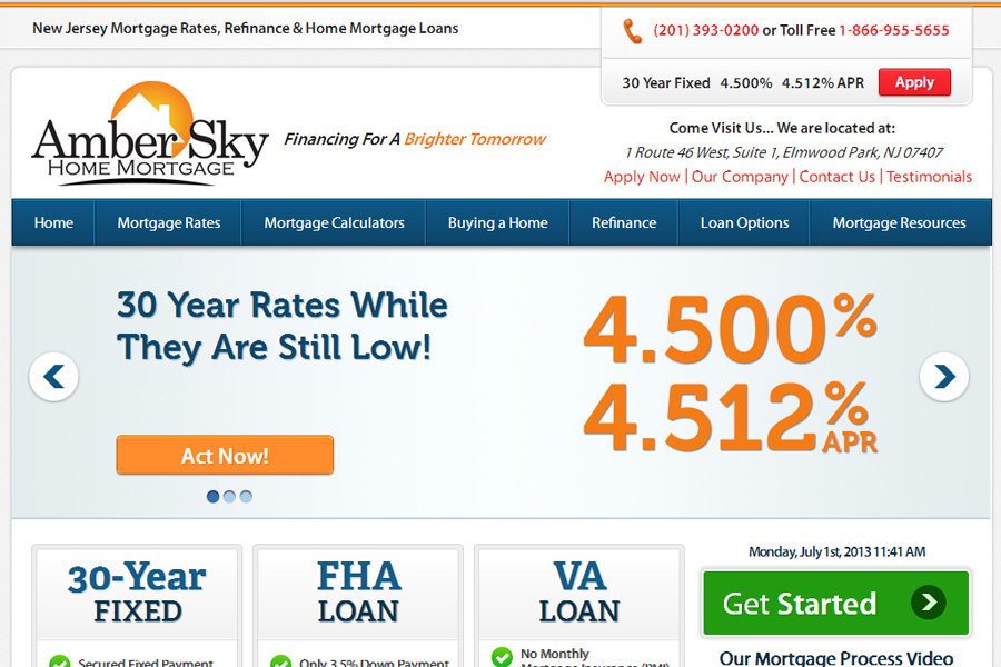 AmberSkyHomeMortgage.com New Jersey Mortgage Rates NJ Refinance New Jersey Home Mortgage