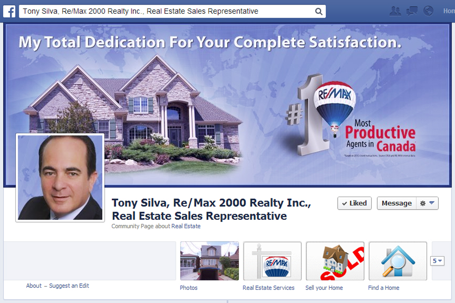 Tony Silva, Re/Max 2000 Realty Inc., Real Estate Sales Representative