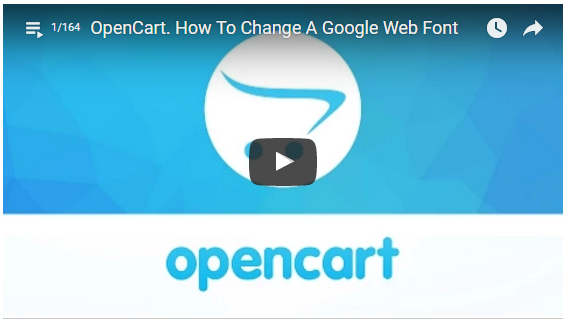 TemplateMonster OpenCart Tutorials